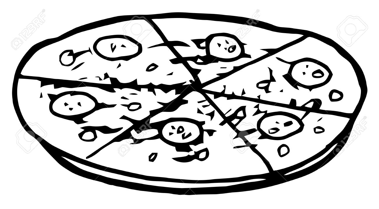Раскраска пиццы для детей