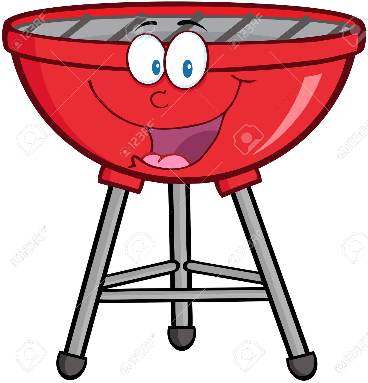 red barbecue cartoon mascot character royalty free cliparts vectors