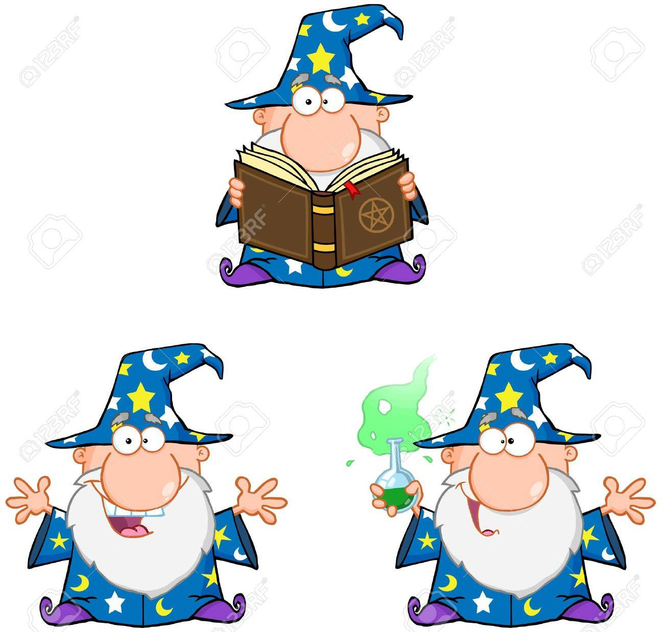 Wizard Cartoon Characters  Collection 2 Stock Vector - 18842639