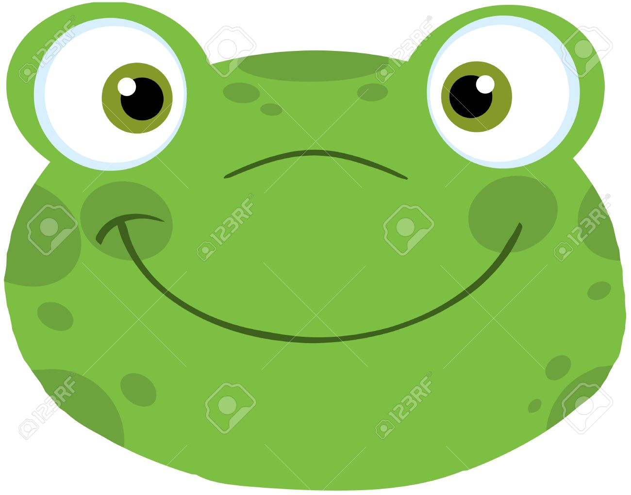 Cute Frog Smiling Head Stock Vector - 19986684