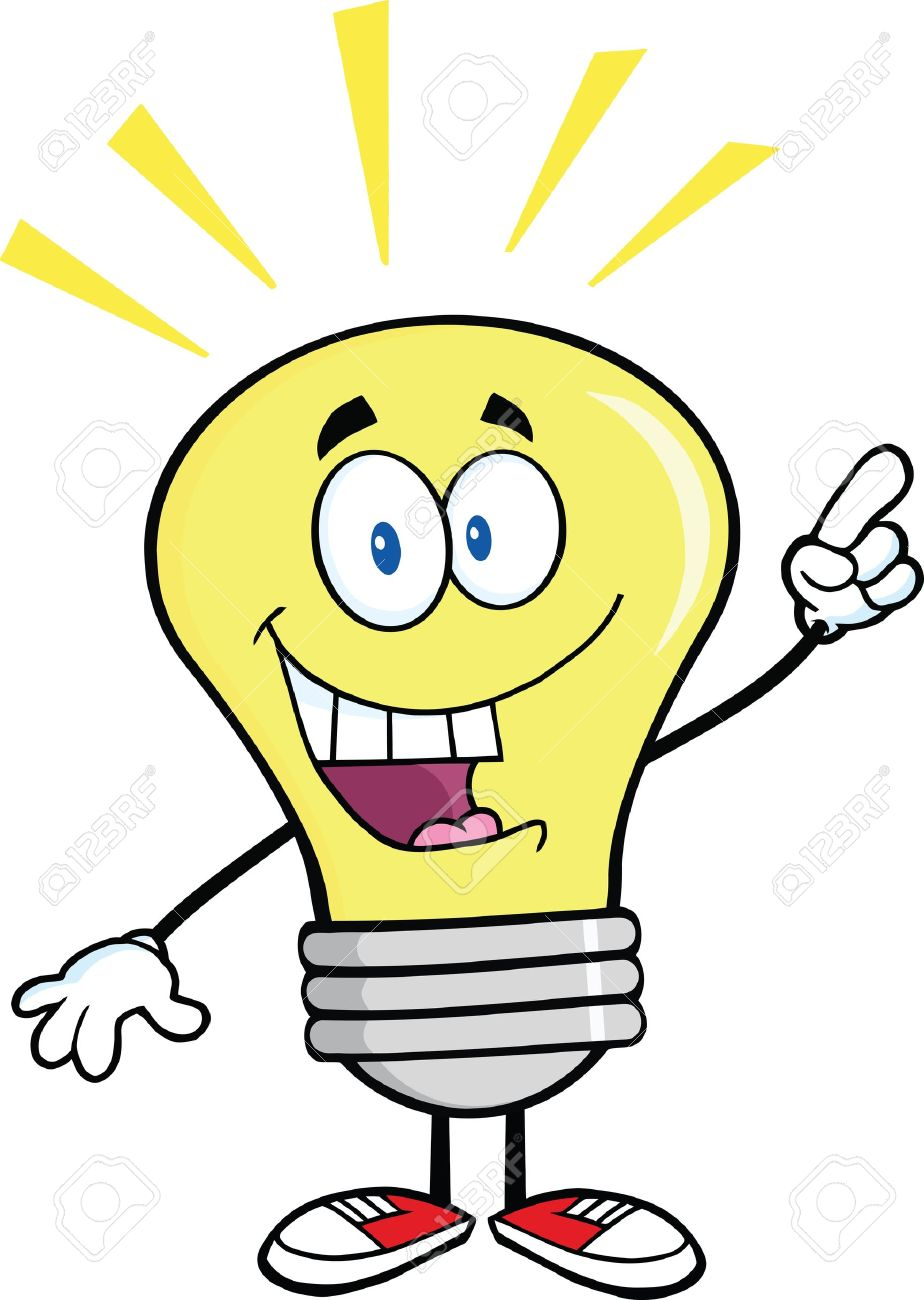 Light Bulb Cartoon Character With A Bright Idea Royalty Free ... for Bright Light Bulb Clipart  117dqh