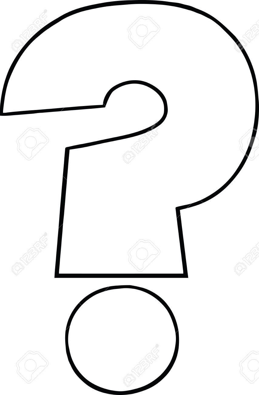 Black And White Cartoon Question Mark Royalty Free Cliparts Vectors