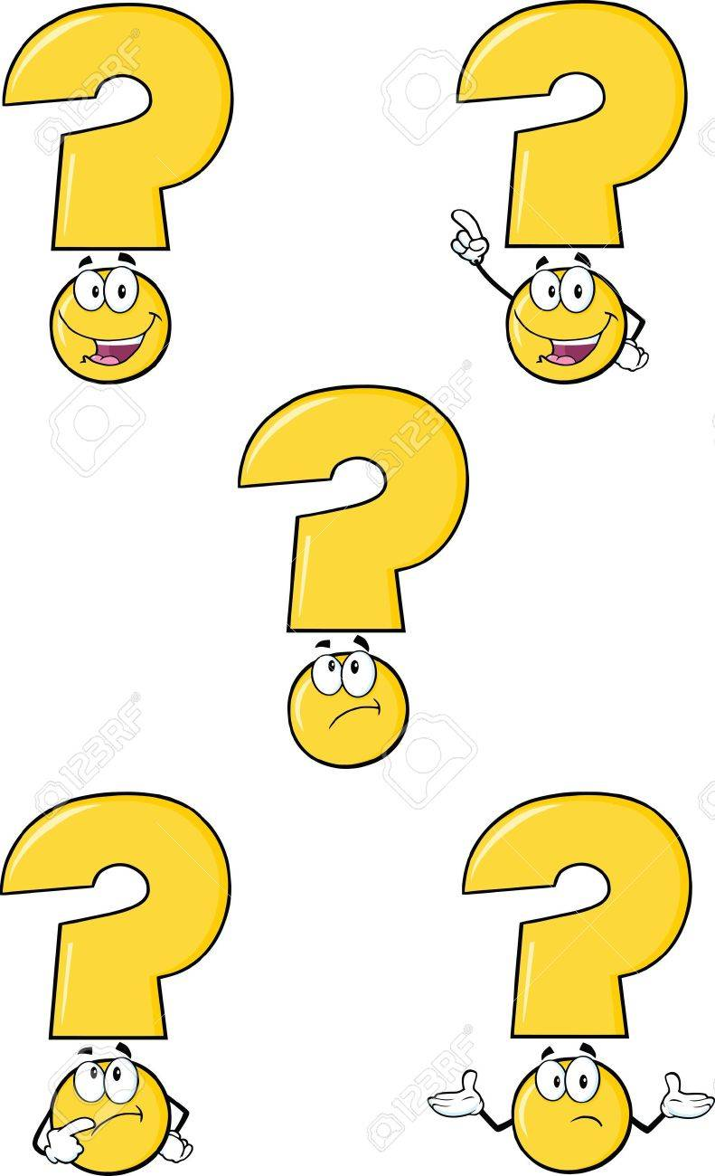 Yellow Question Mark Cartoon Characters  Set Collection Stock Vector - 21641818