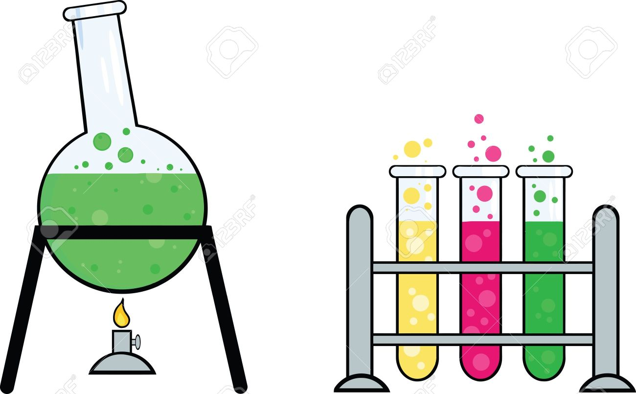 Pics photos clip art cartoon scientist with question mark stock - Scientific Pieces Of Equipment From A Chemistry Laboratory Illustration