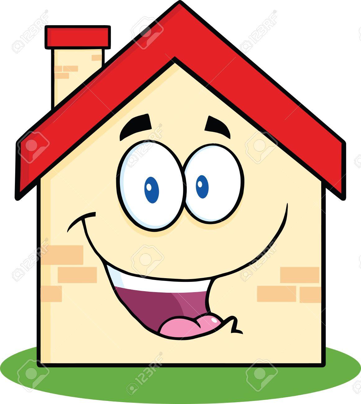 Happy House Cartoon Mascot Character Stock Vector   21941850