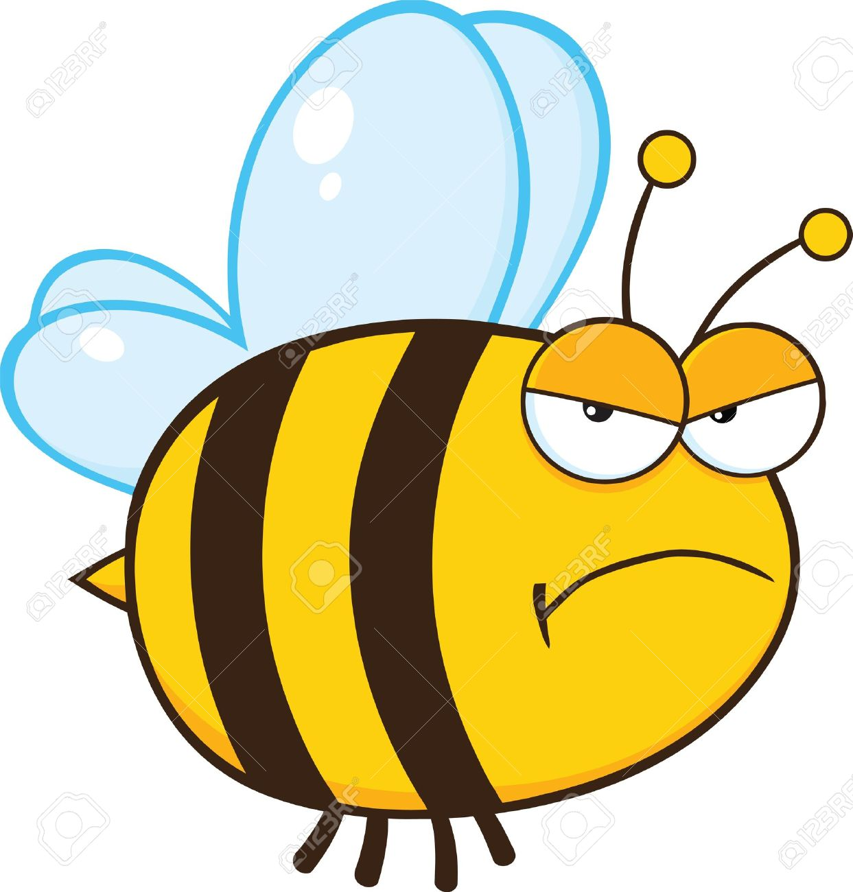 Angry bee cartoon mascot character stock vector 22080167