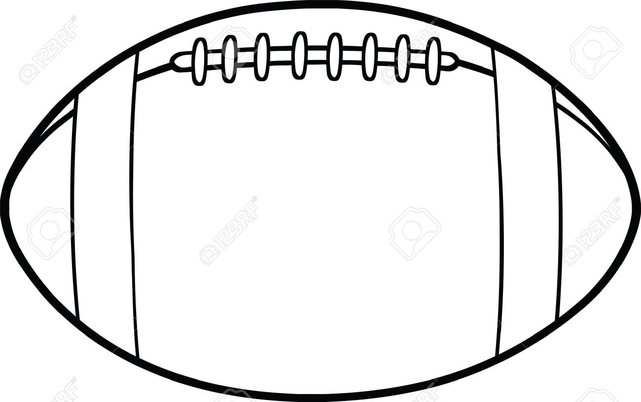 black and white american football ball cartoon illustration royalty rh 123rf com black and white football clipart free black and white football jersey clipart