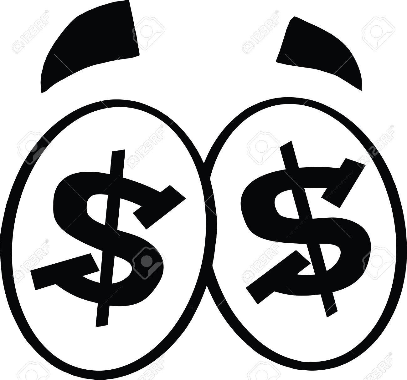 Black And White Dollar Sign