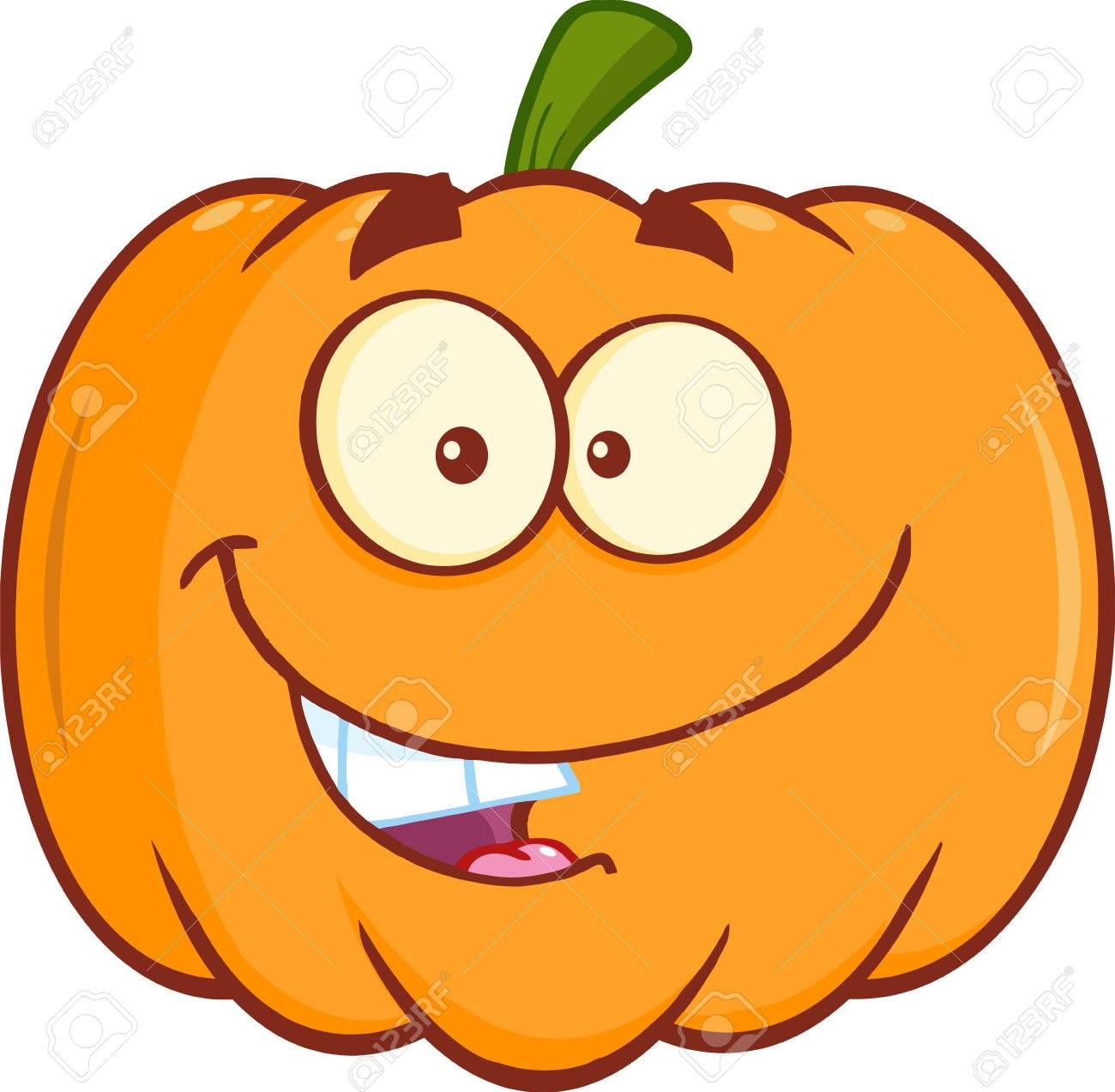 funny halloween pumpkin mascot character royalty free cliparts