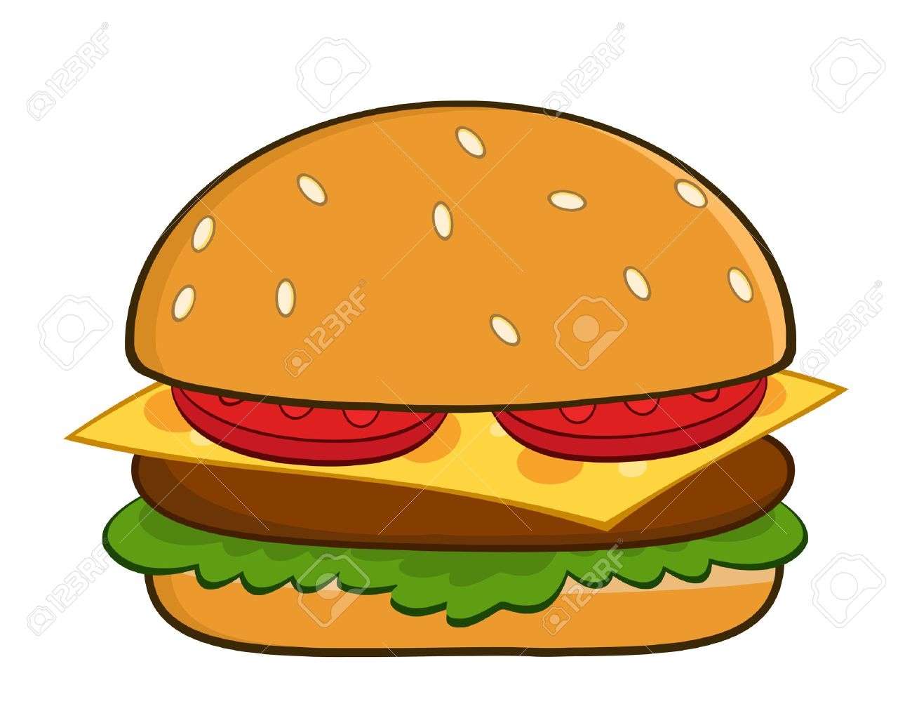 hamburger cartoon illustration isolated on white royalty free rh 123rf com cartoon hamburger guy cartoon hamburger guy