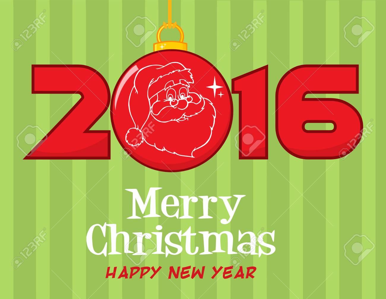 Frohe Weihnachten Und Ein Frohes Neues Jahr 2016-Gruß Mit ...