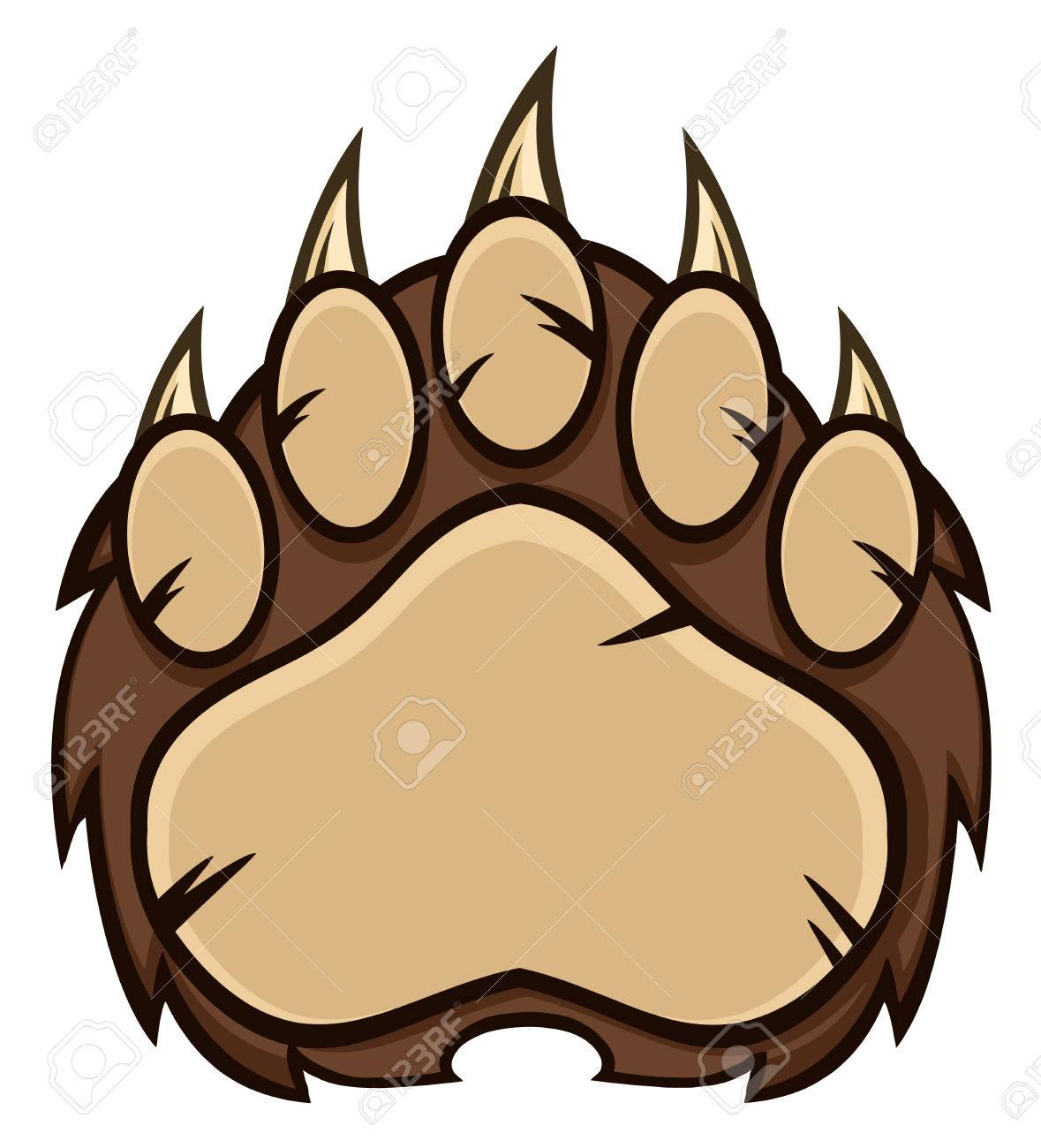 brown bear paw with claws illustration isolated on white stock rh 123rf com bear claw clipart free bear claw clipart