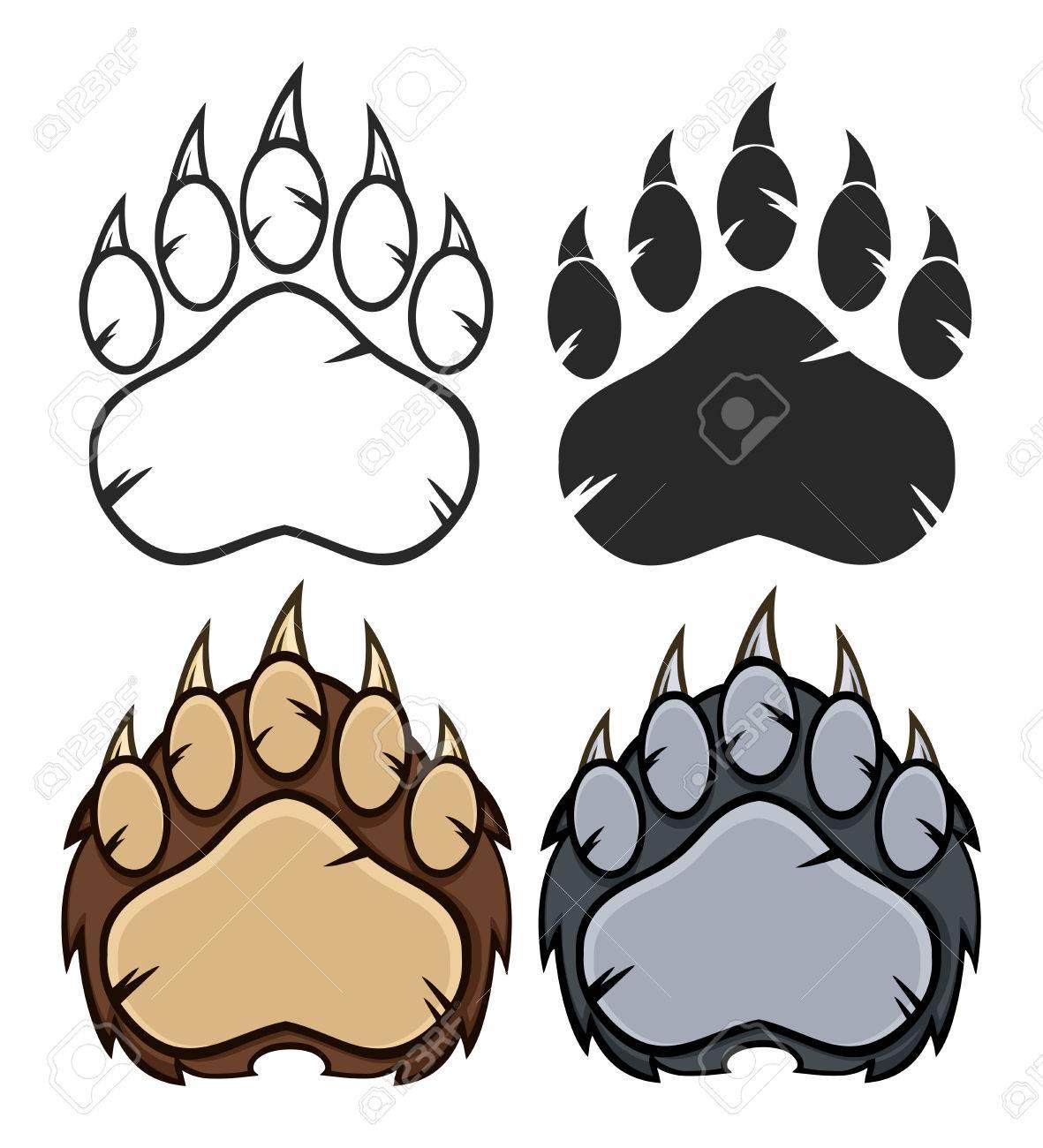 Bear Paw Logo Design. Collection Set - 55244902