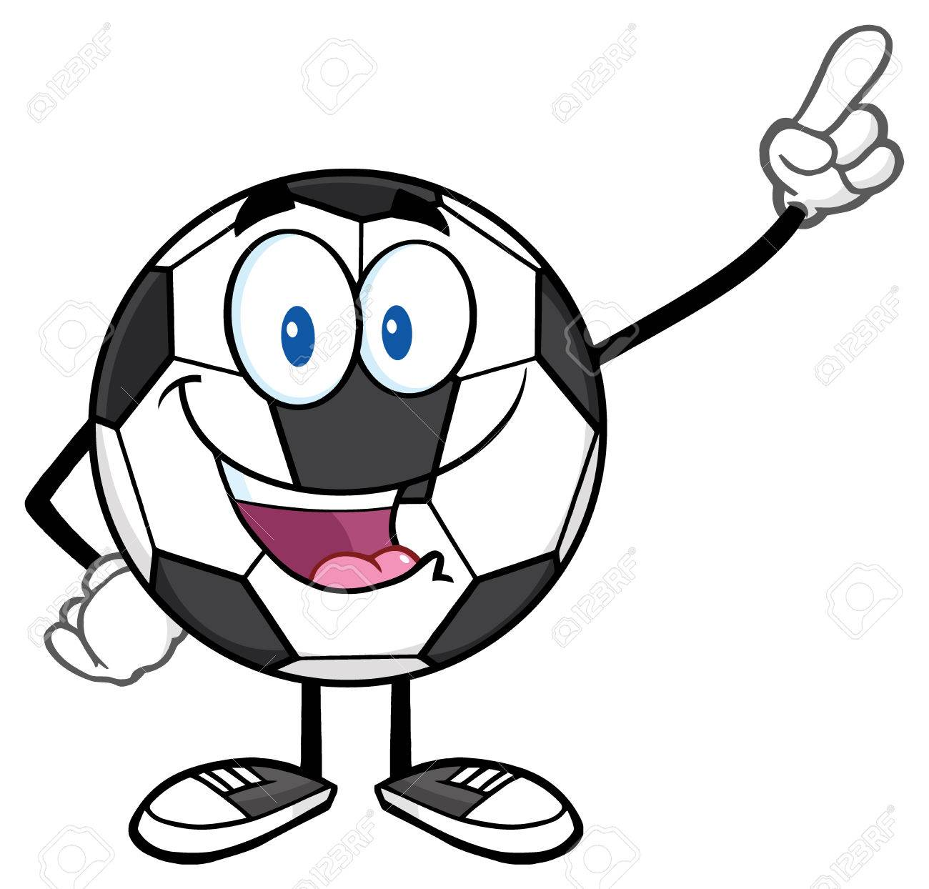 Happy Soccer Ball Cartoon Mascot Character Pointing Stock Photo Picture And Royalty Free Image Image 59848865
