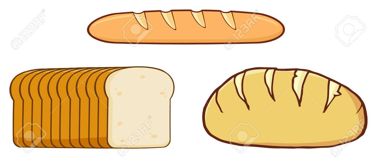 Cartoon Loaf Bread Design Illustration Isolated On White Background Stock Photo Picture And Royalty Free Image Image 59122434