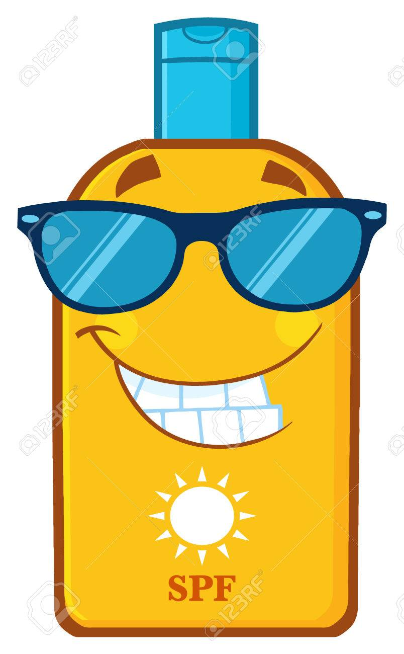 Image result for SUN TAN LOTION CARTOON
