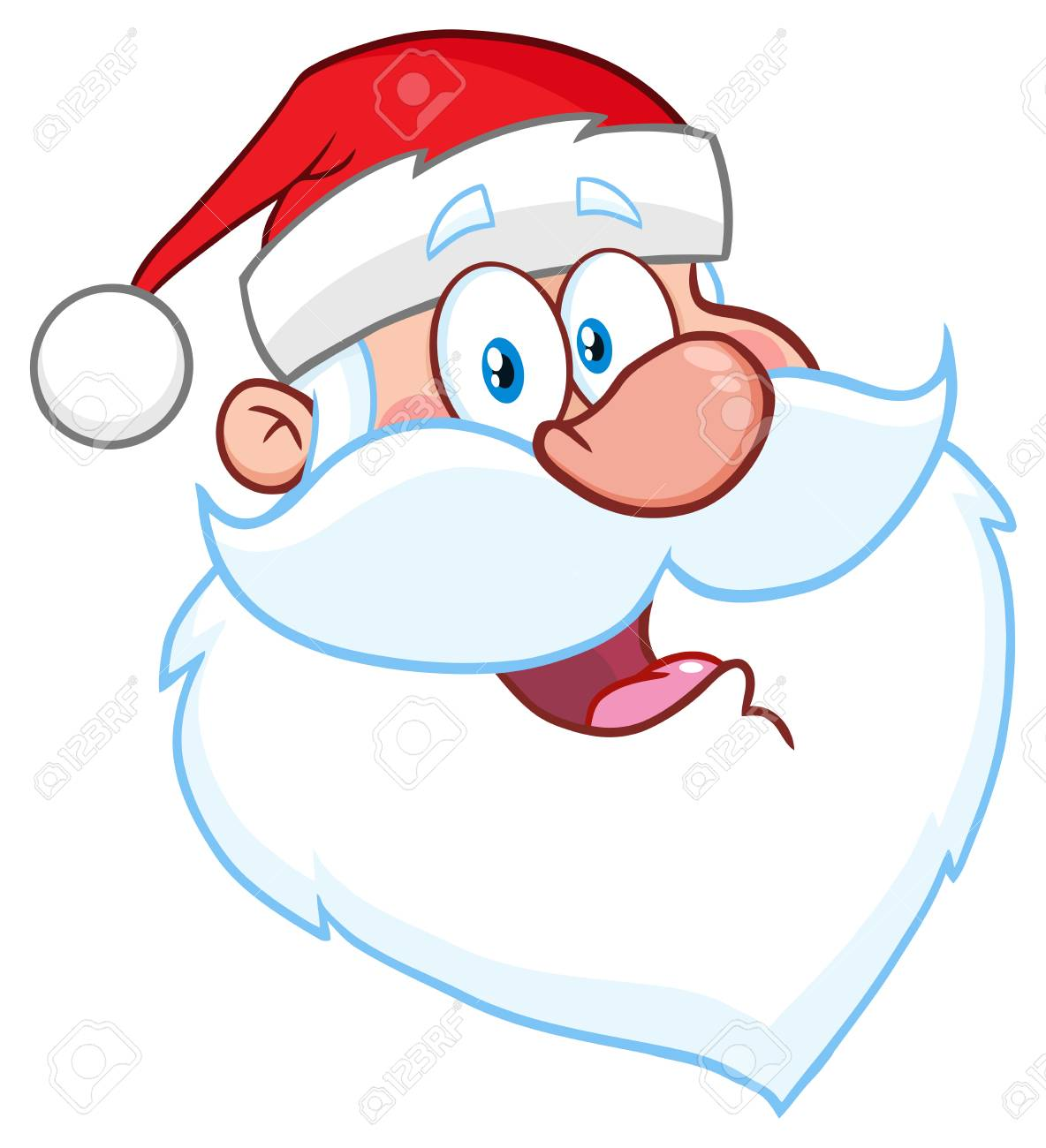 happy santa claus face classic cartoon mascot character hand stock photo picture and royalty free image image 92515719 happy santa claus face classic cartoon mascot character hand