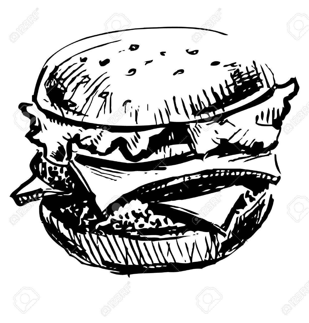 Delicious juicy burger Stock Vector - 18010381