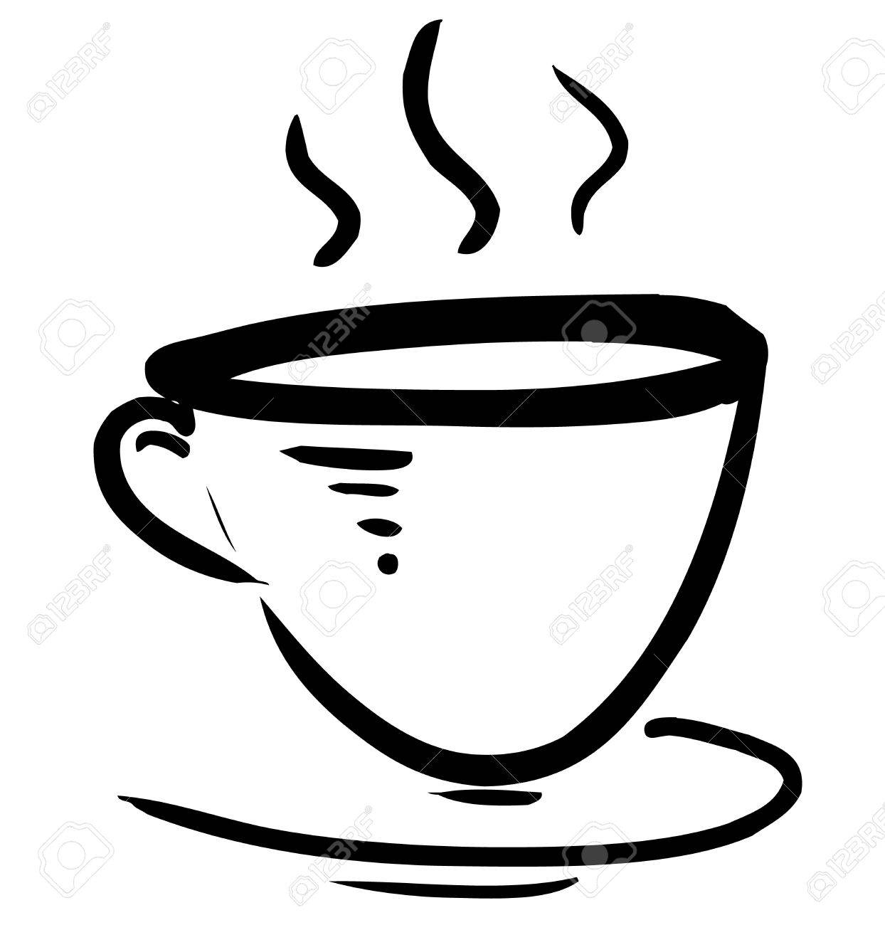 Cup with steam stylized Stock Vector - 18010341