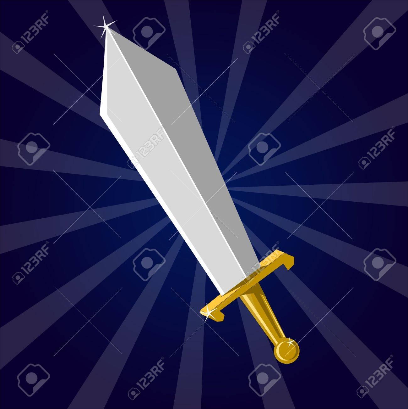 Shining sword Stock Vector - 18010426