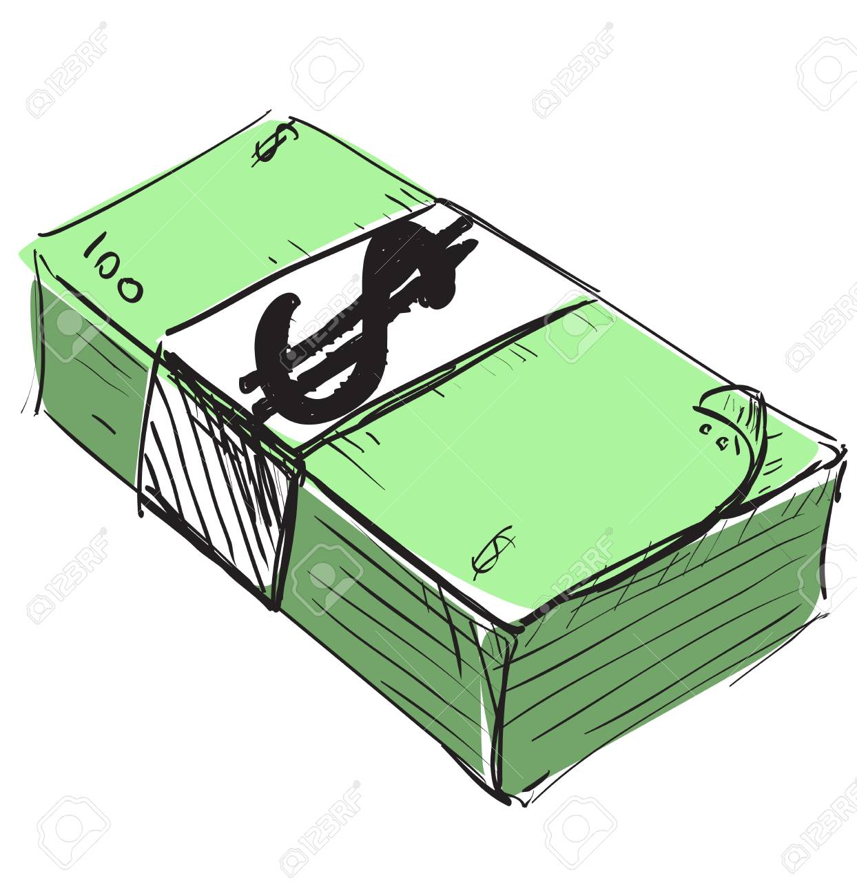 Dollar cash money icon Stock Vector - 18010619