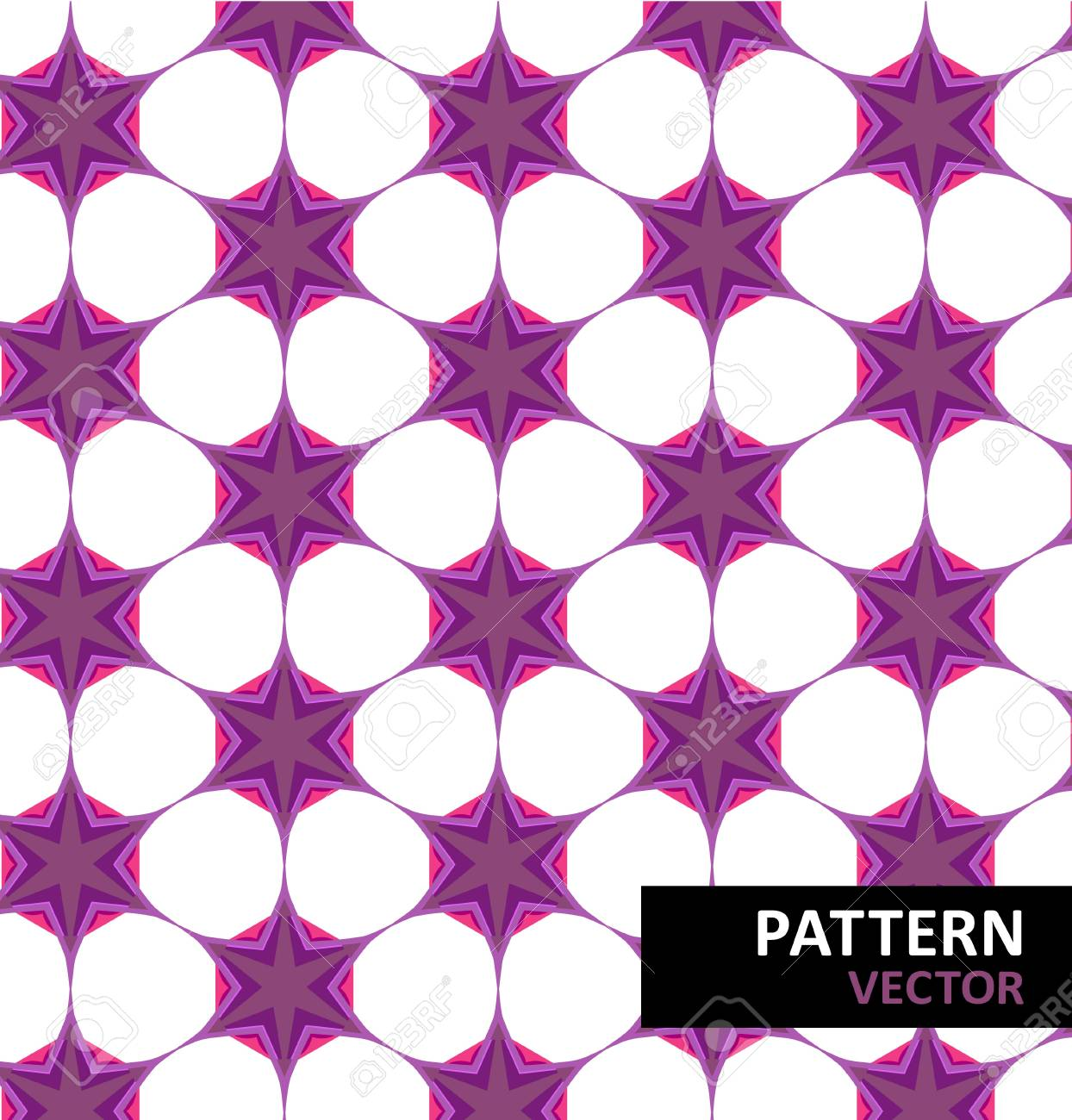 Abstract geometric floral pattern Stock Vector - 18010637