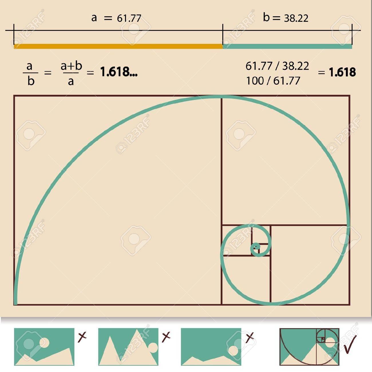 Golden Ratio, Golden Proportion Stock Vector - 18031108