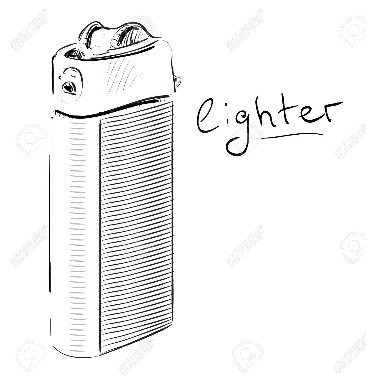 Lighter cartoon sketch vector illustration Stock Vector - 18269490