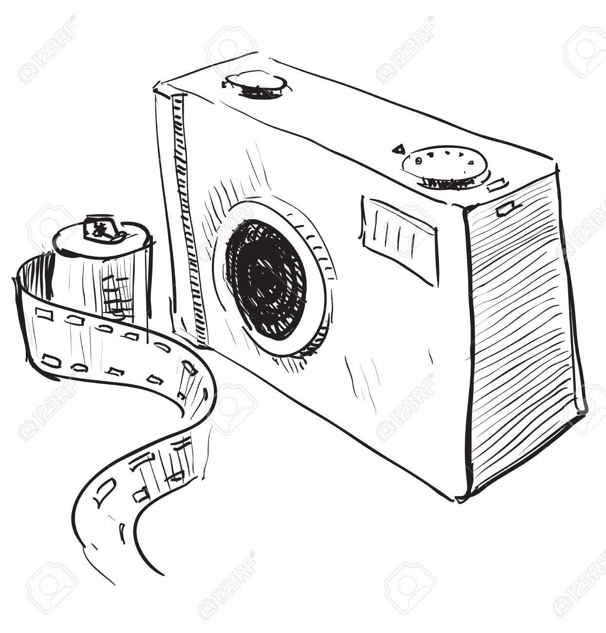 Analogue photo camera icon Stock Vector - 18269497