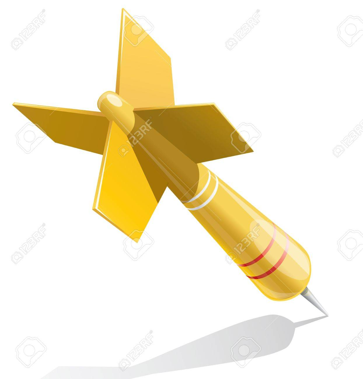 Dart target aim yellow illustration Stock Vector - 18447496
