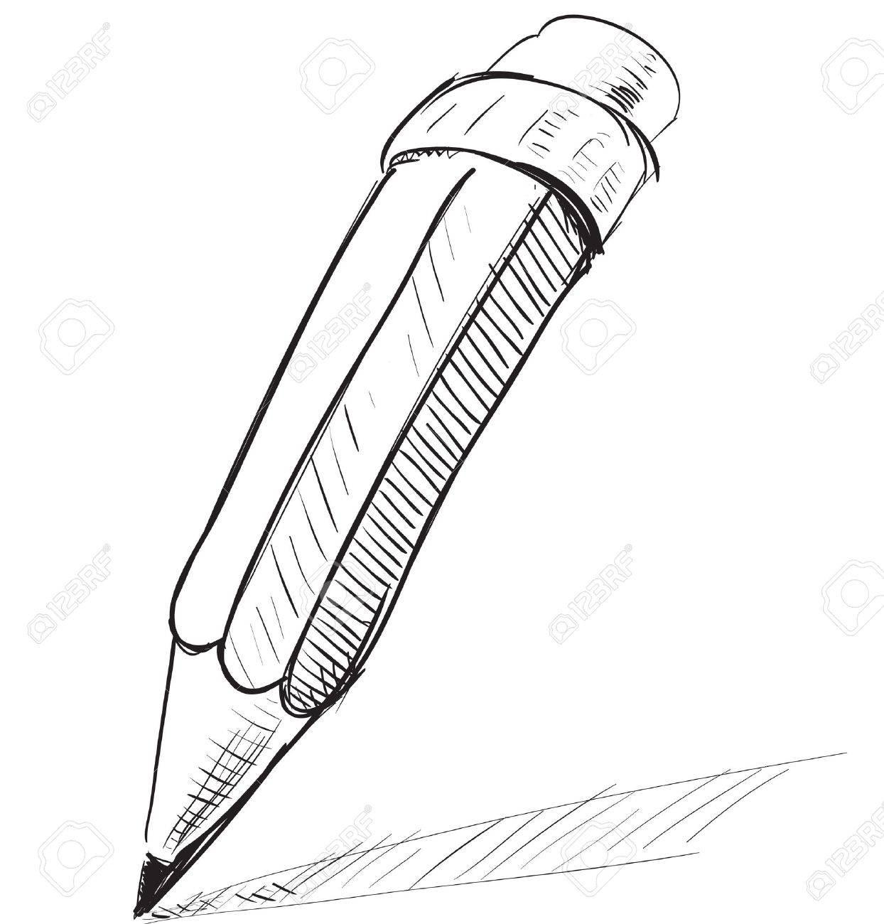 Pencil sketch cartoon illustration stock vector 18447340