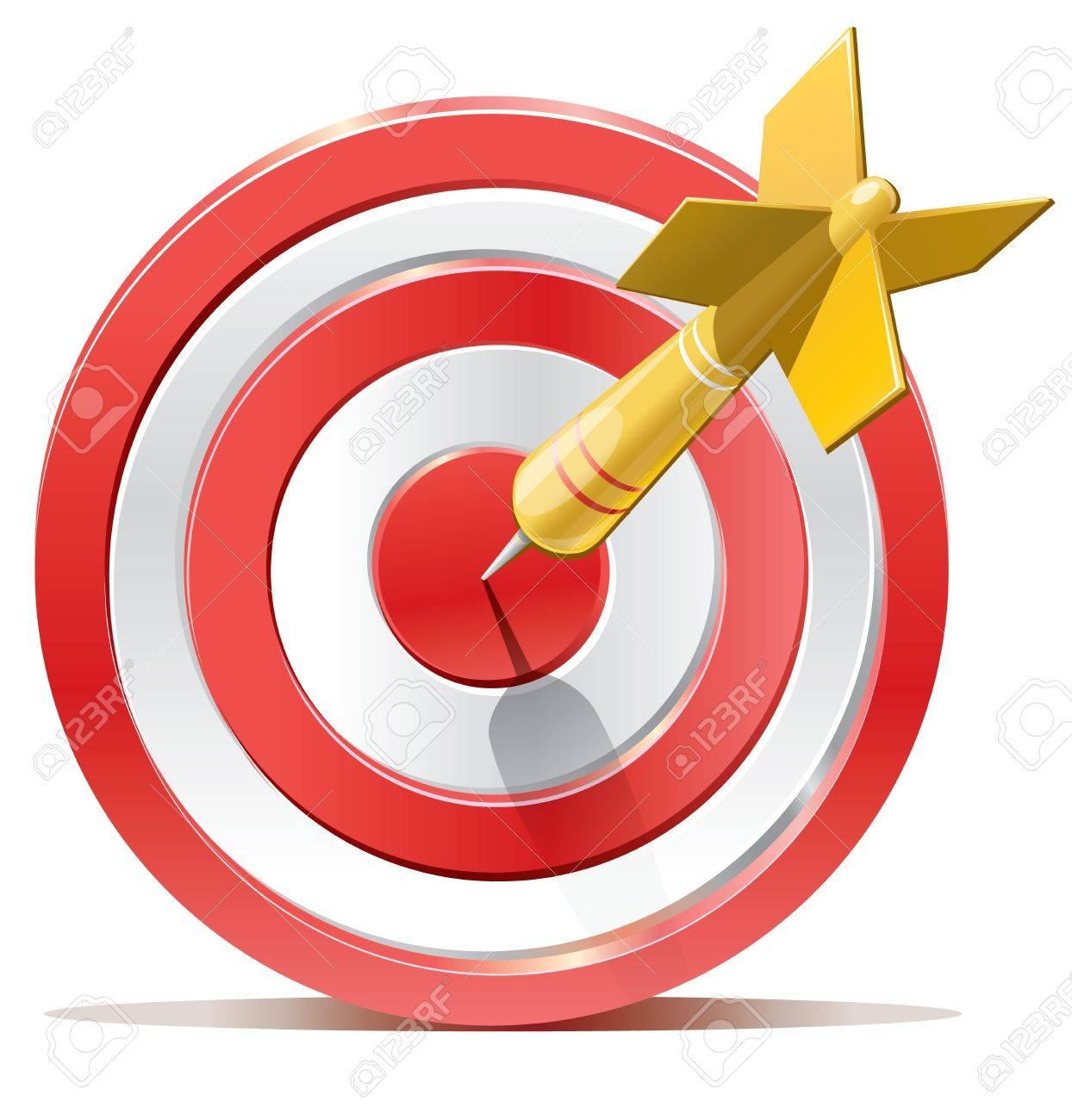 Red darts target aim Stock Vector - 19449203
