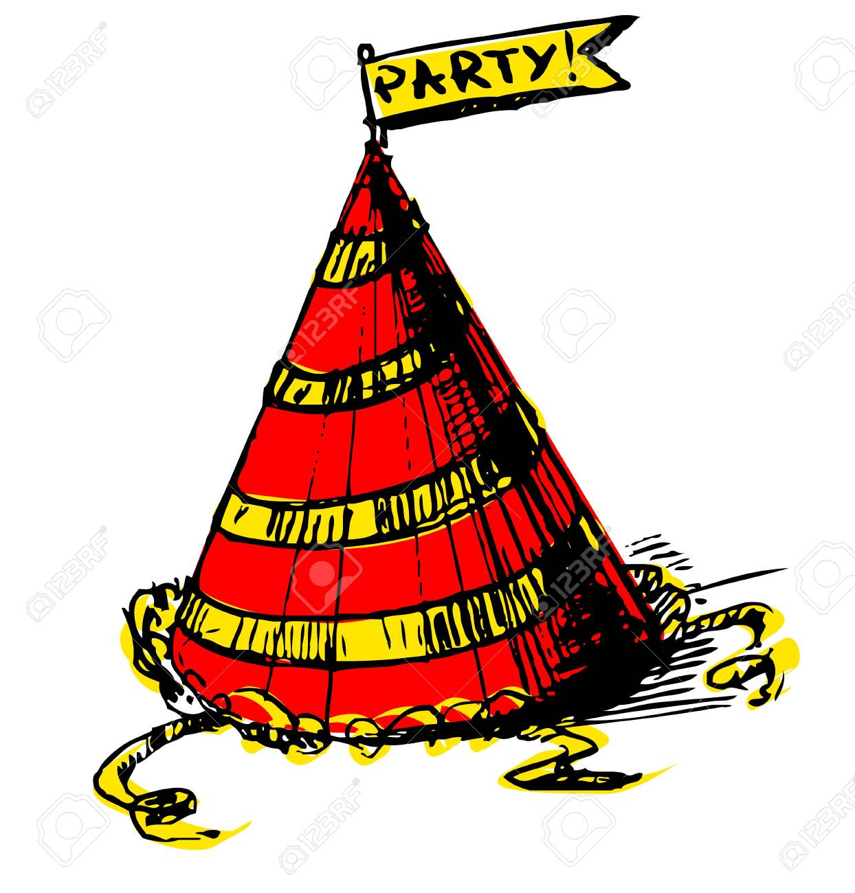Party cap decorated Stock Vector - 19591705