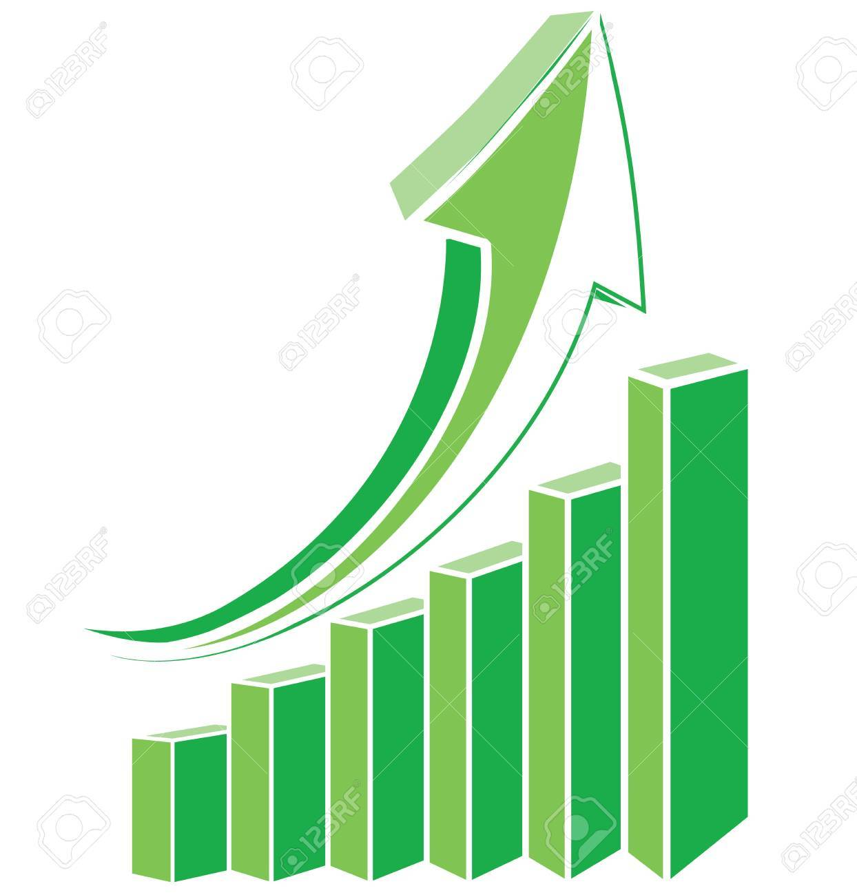 Arrow diagram chart Stock Vector - 19842450