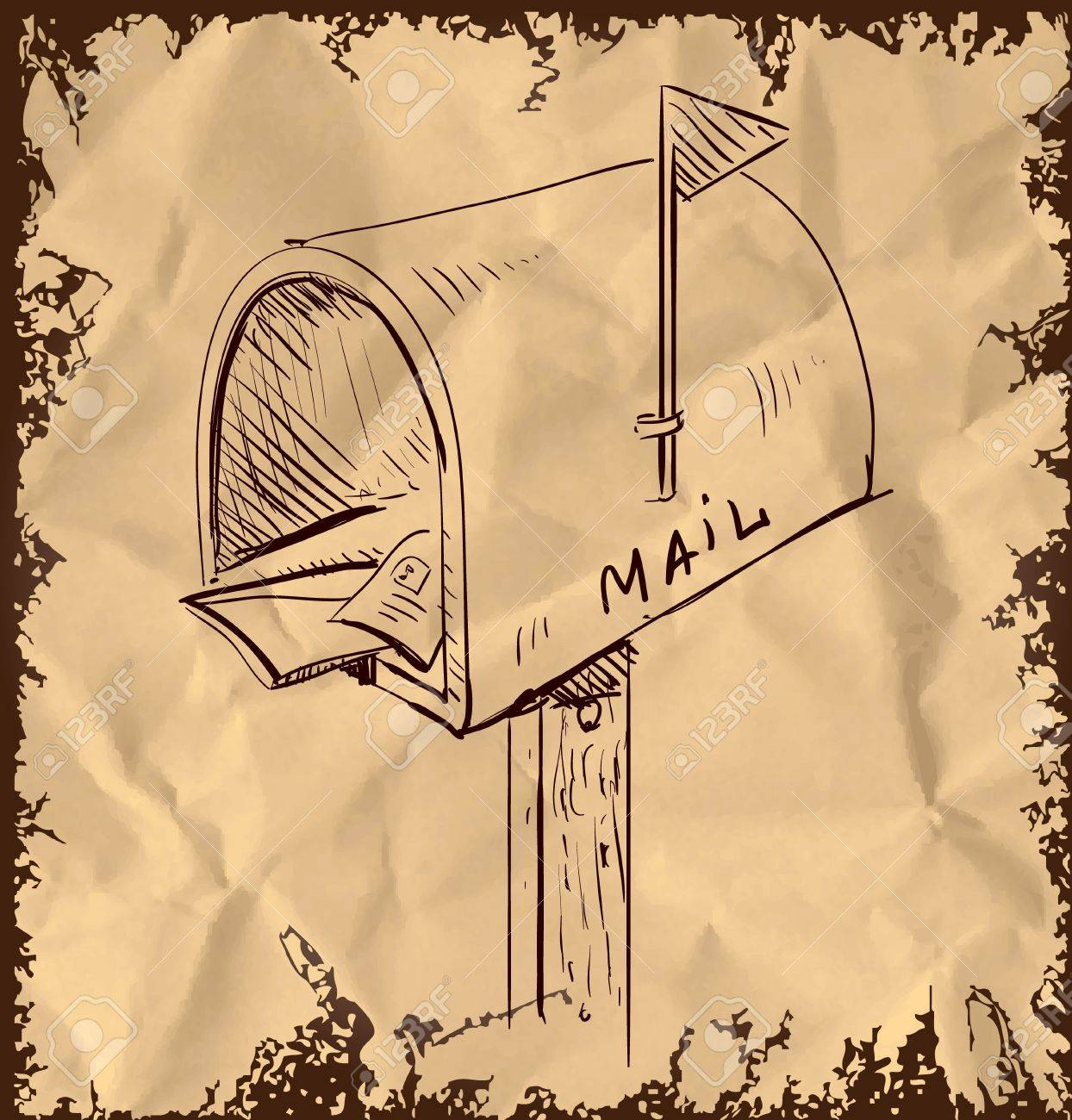 Mailbox cartoon icon Stock Vector - 19898329