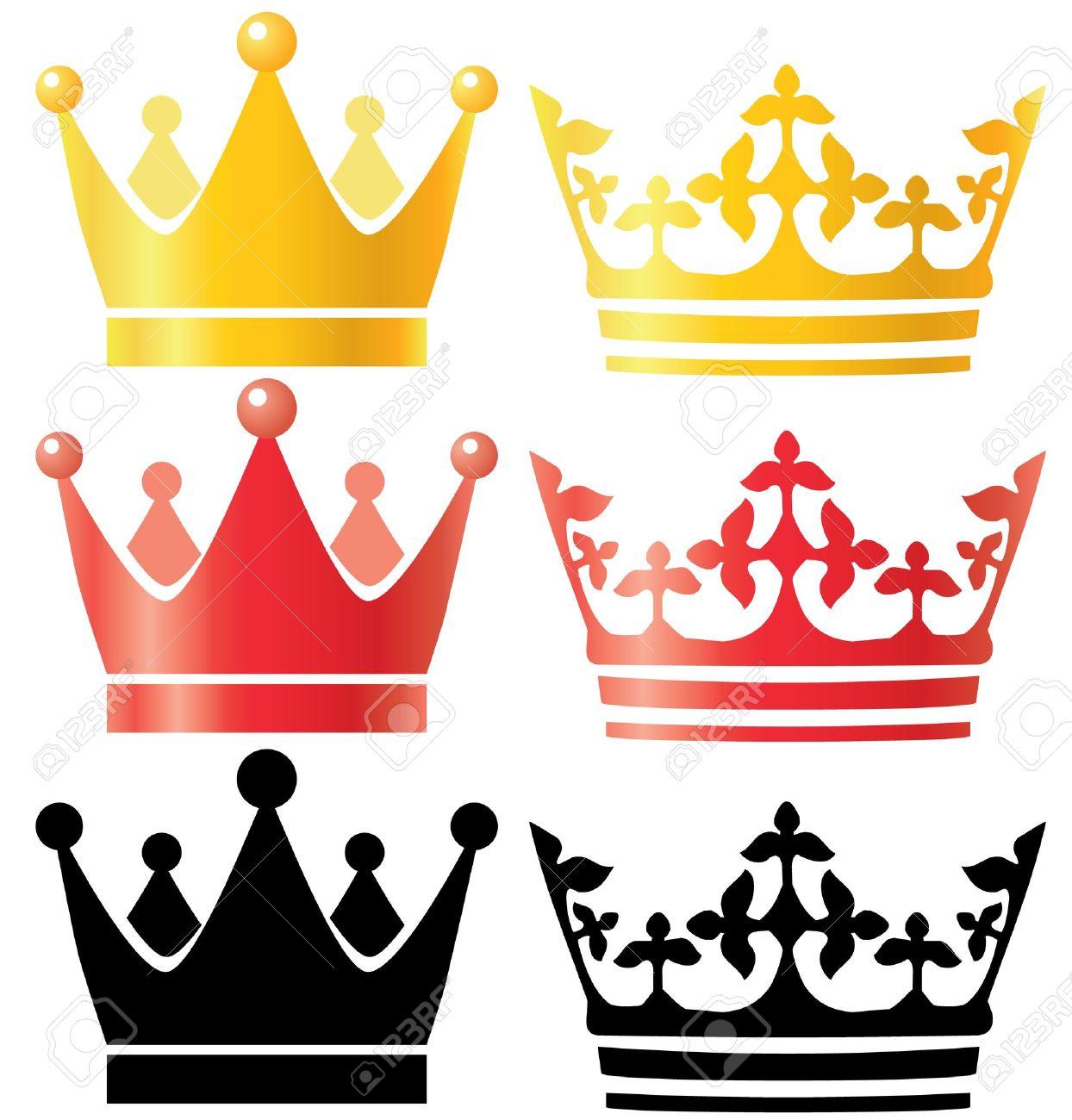 Crowns set Stock Vector - 20099876