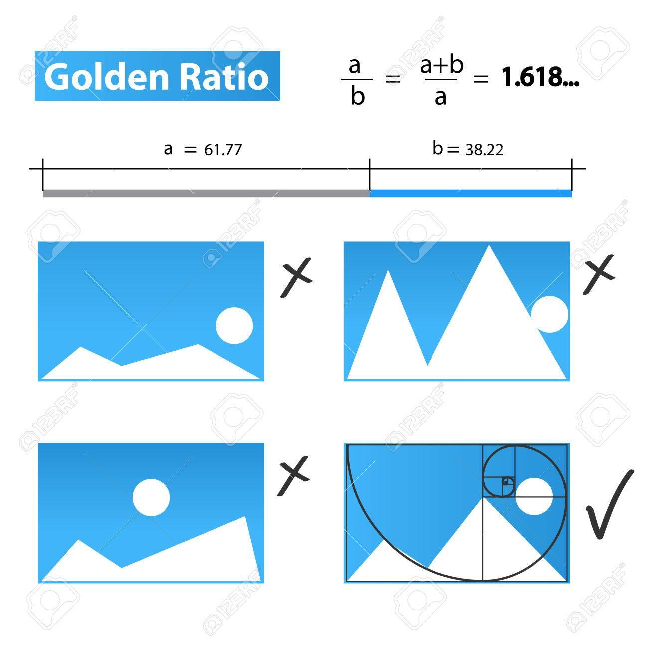 Golden Ratio,Golden Proportion vector illustration Stock Vector - 22819768