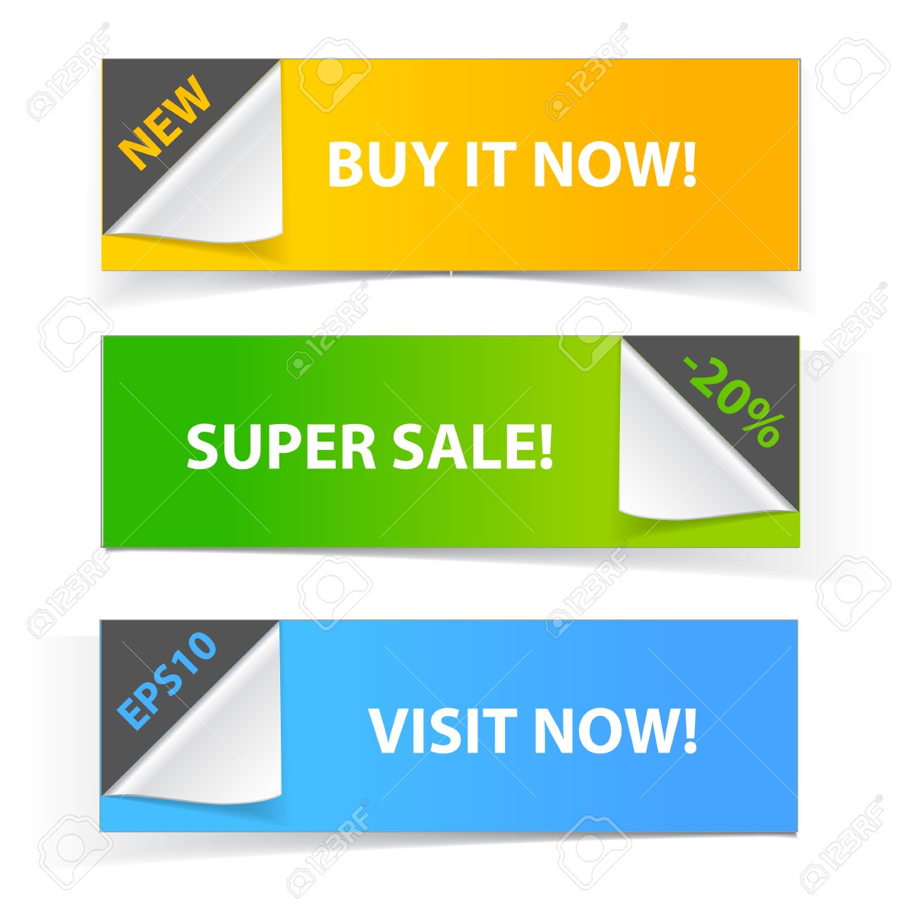 Colorful set of promotional sale banners Stock Vector - 22819808
