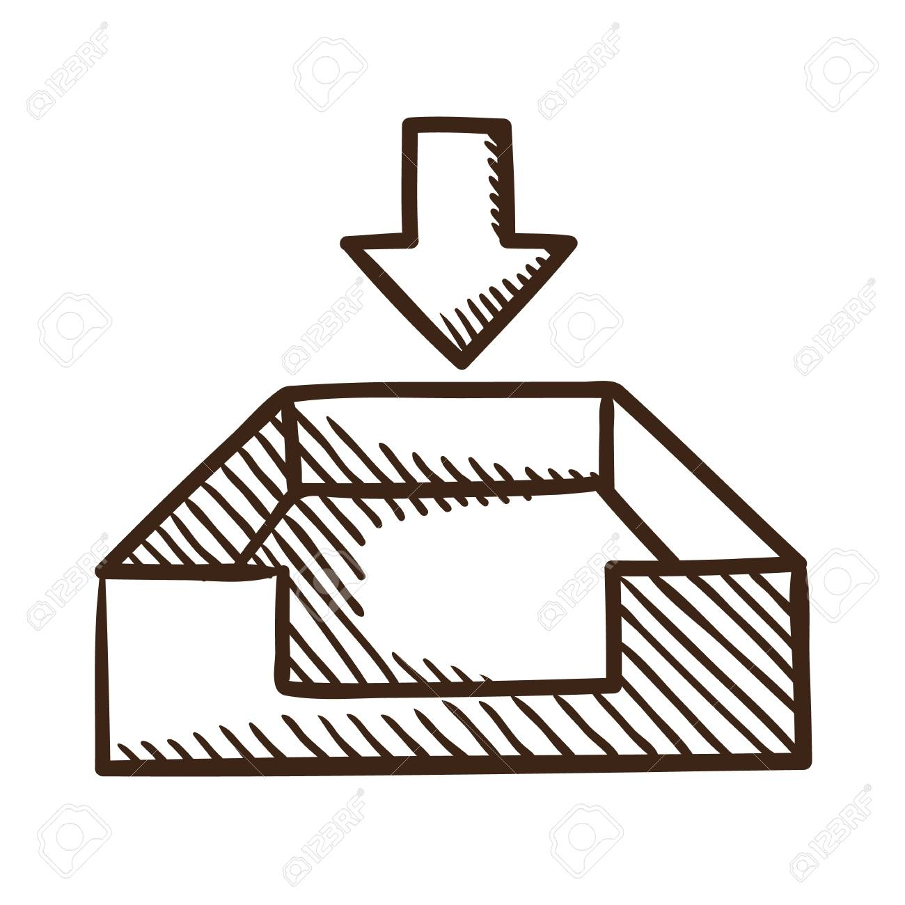 Isolated sketch icon pictogram. Stock Vector - 26532436