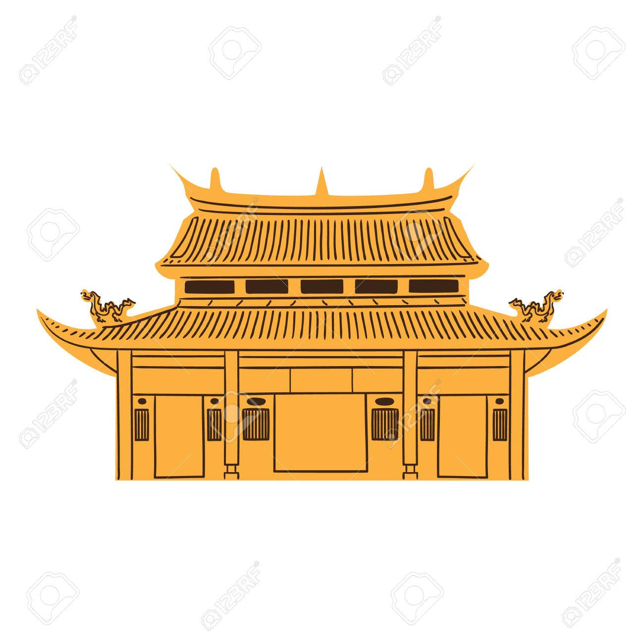 Chinese Temple isolate...