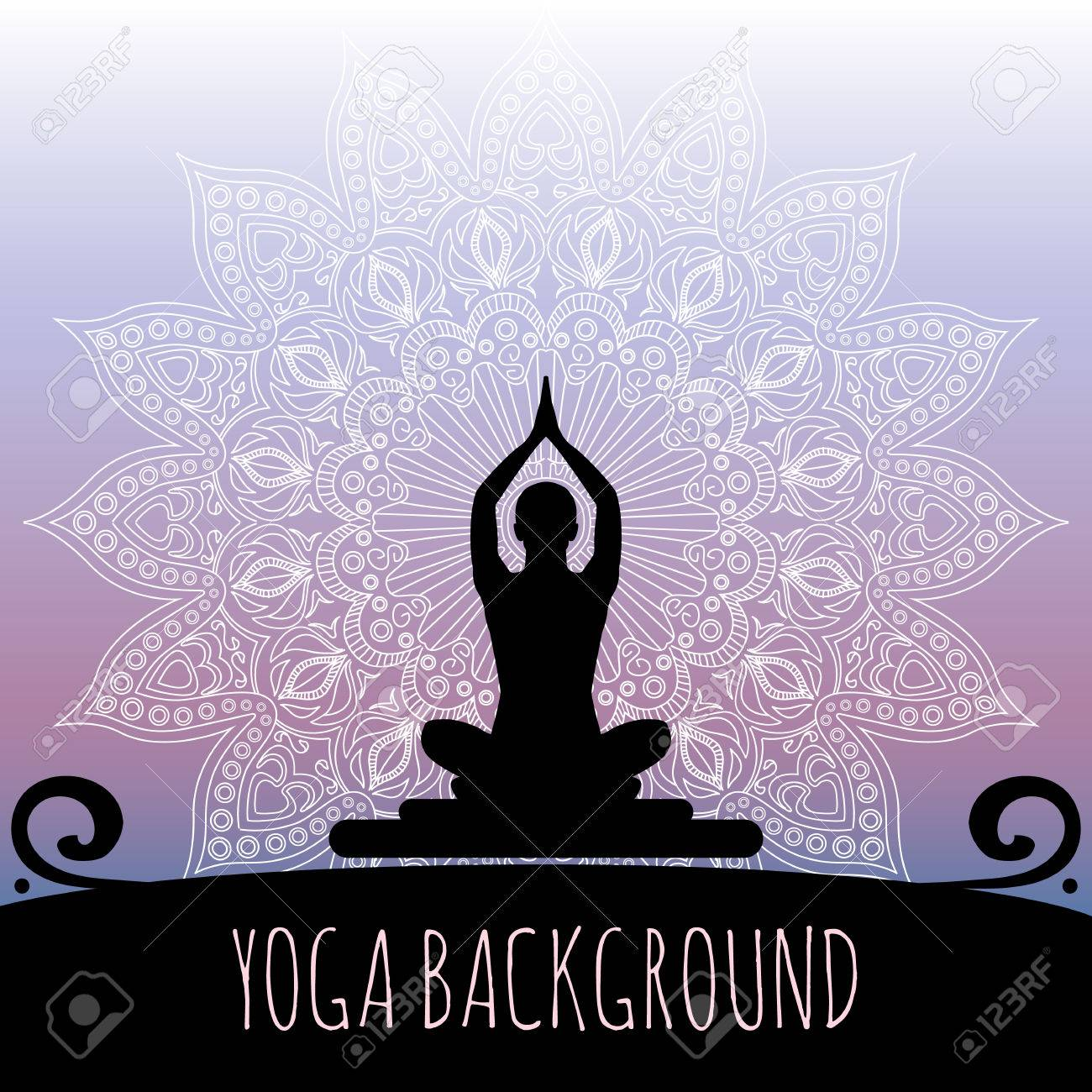 Yoga background. Stock Vector - 33918988