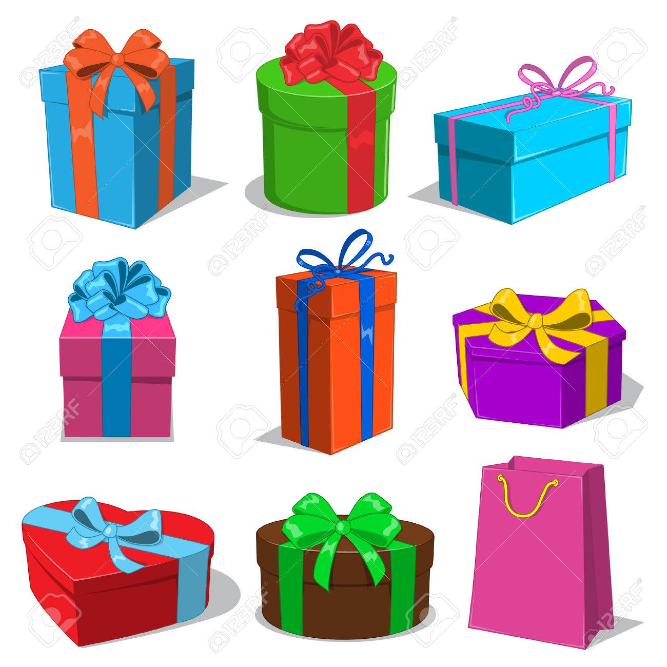 Present boxes collection. Stock Vector - 36512438