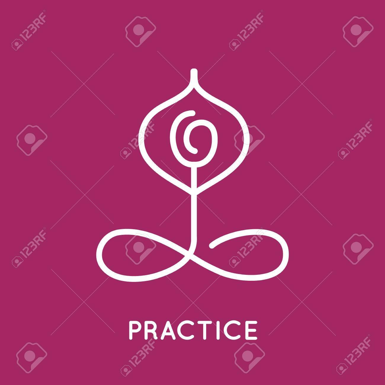 Yoga  template. Stock Vector - 39577995