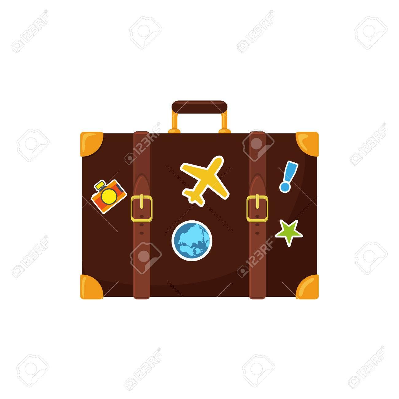 Journey suitcase. Stock Vector - 39578156