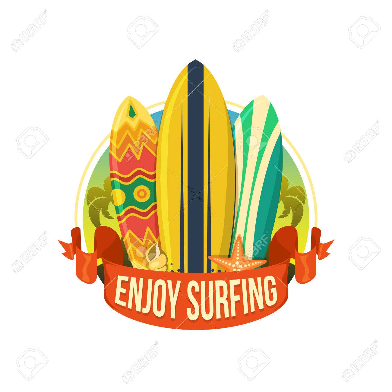 Surfing boards. Stock Vector - 40887607