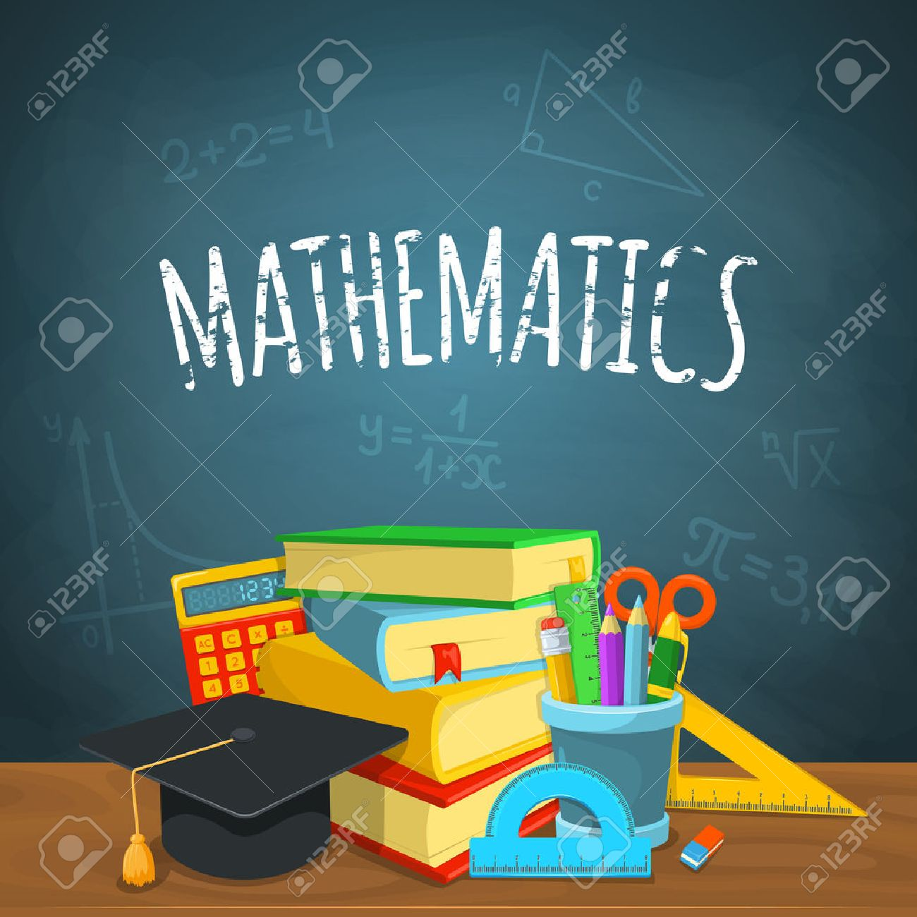 Education background design. Science colorful vector composition. Stock Vector - 44029184