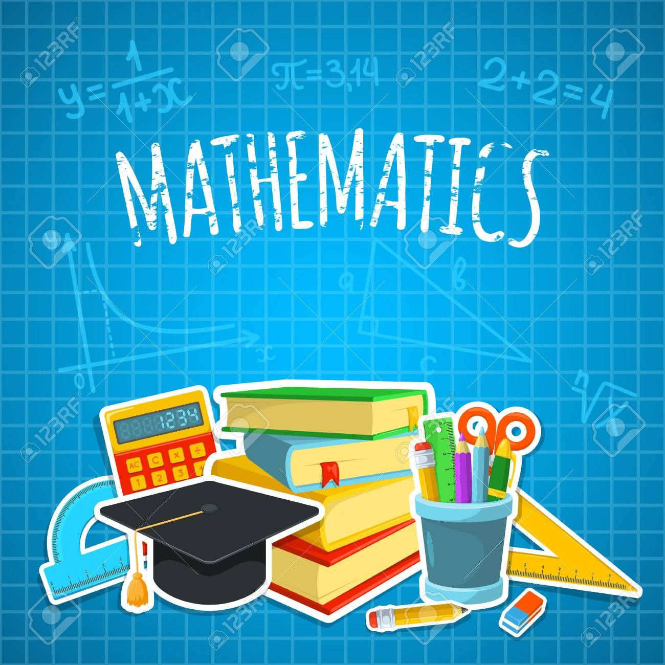 Education background design. Science colorful vector composition. Stock Vector - 44258151