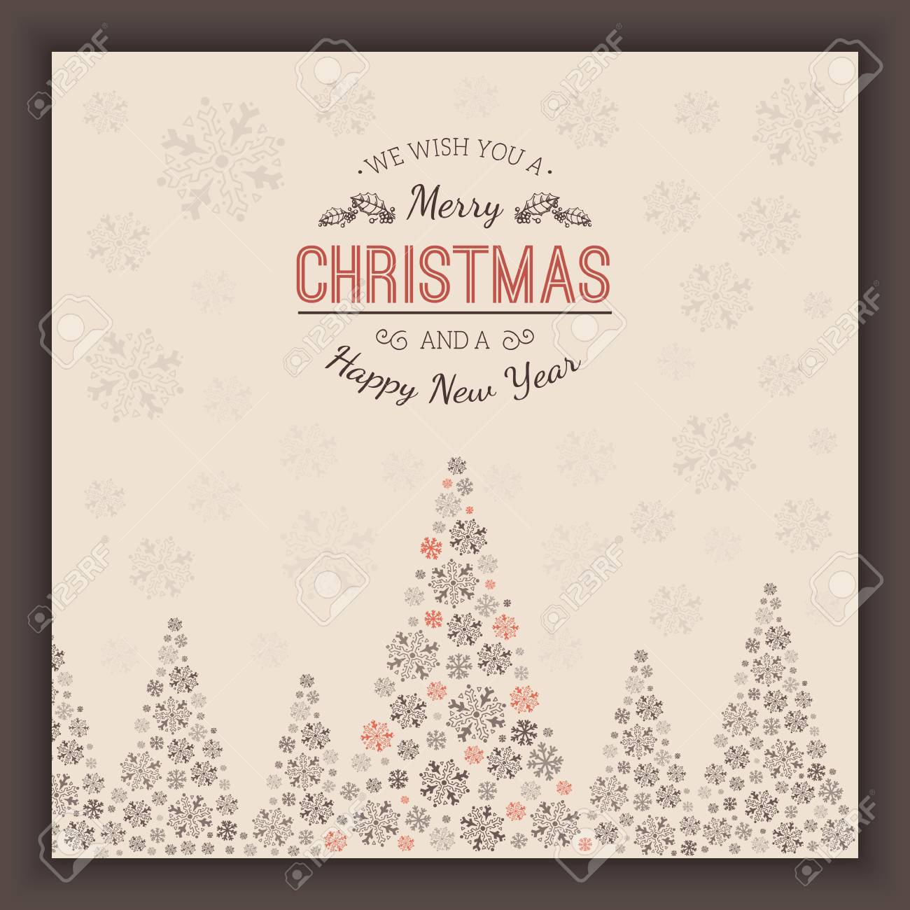 christmas and new year card template vector vintage background stock vector 67497172