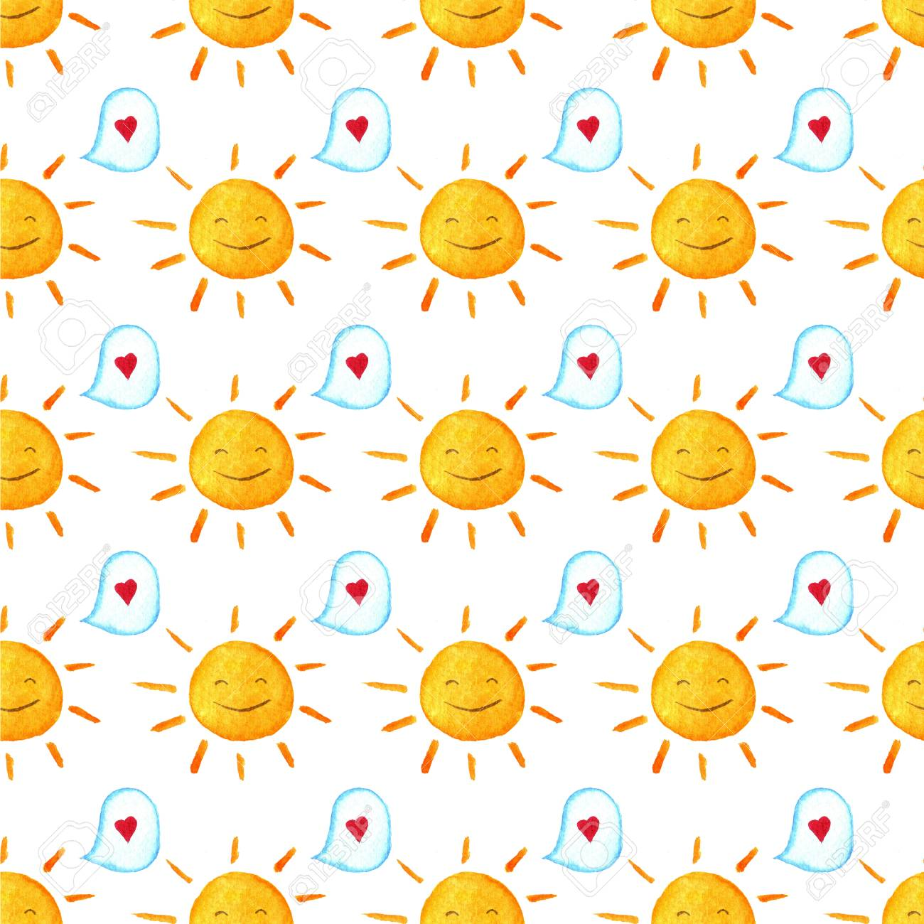 Seamless Baby Pattern Hand Painted Illustration Wallpaper