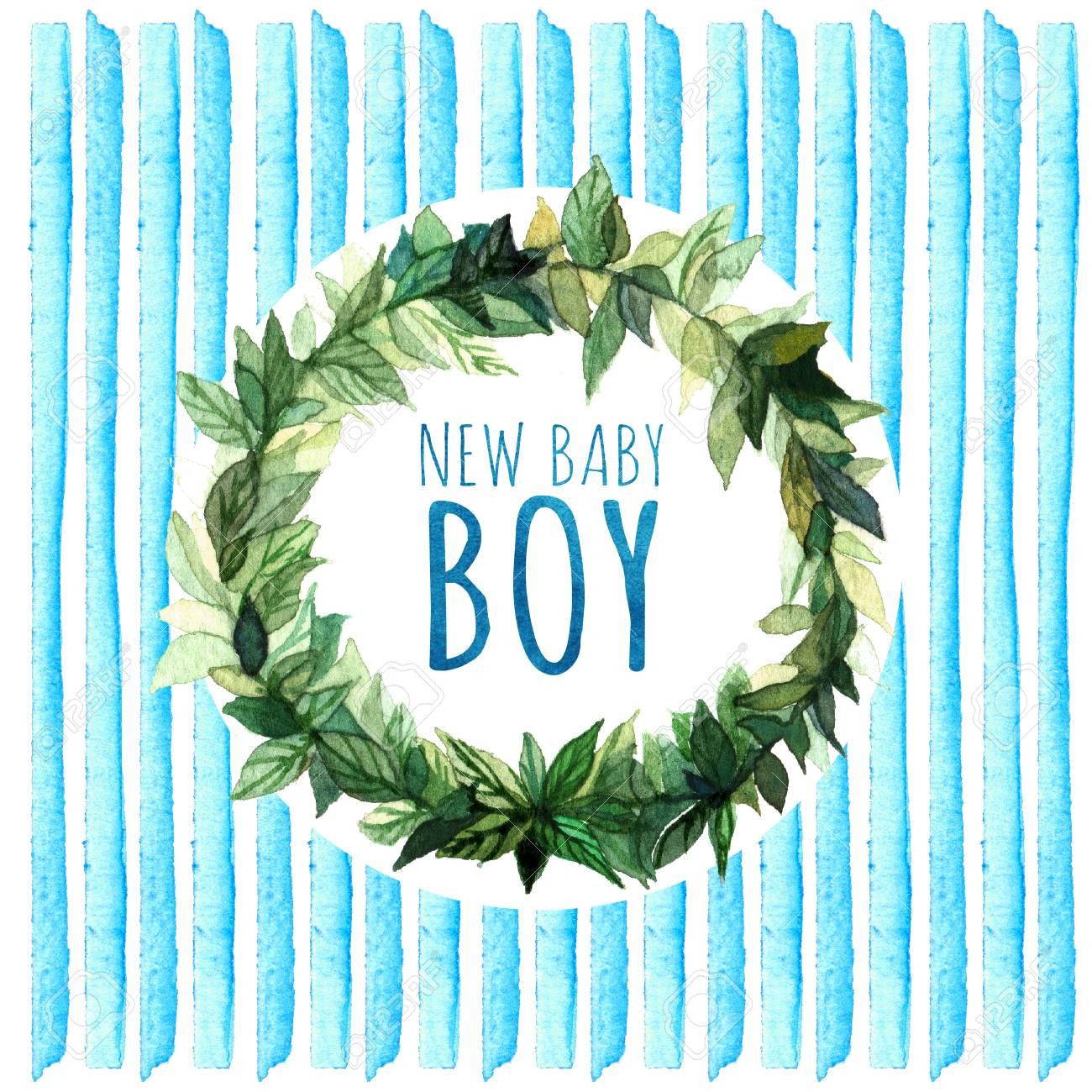 Baby Shower Invitation Card It S A Boy New Baby Boy Baby Shower Greeting Card Watercolor Creative Greeting Cards Template Element Design For